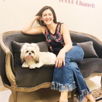 Silvia con Cleo s.